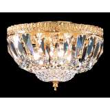 James R. Moder Empire Gold Swarovski Crystal Ceiling Fixture