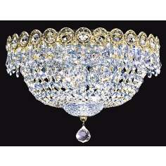 "James R. Moder Dominion 12"" Wide Crystal Flushmount"
