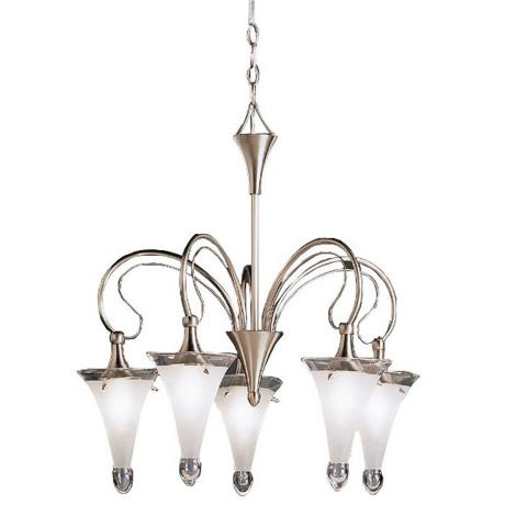 Fontaine Collection Satin-Etched Five Light Chandelier