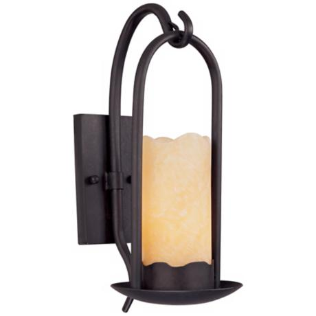 Lamps Plus Candle Wall Sconces : Hanging Onyx Faux Candle Wall Sconce - #51685 LampsPlus.com