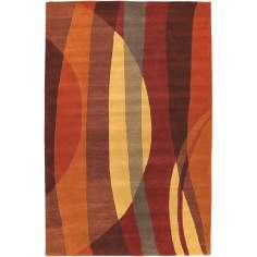 Half Moon Orange Multi Handmade Rug