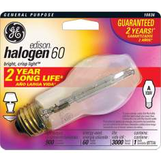 GE Edison Base 60 Watt Long Life Bulb
