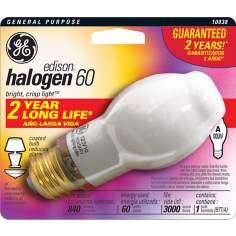 60 Watt Soft White Halogen GE Light Bulb