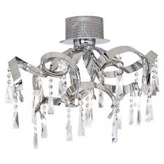 "Possini Euro Chrome Ribbon 25 1/4"" Wide Ceiling Light"