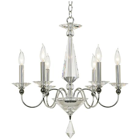 "Schonbek Jasmine Optic Crystal 22 1/2"" Wide Chandelier"