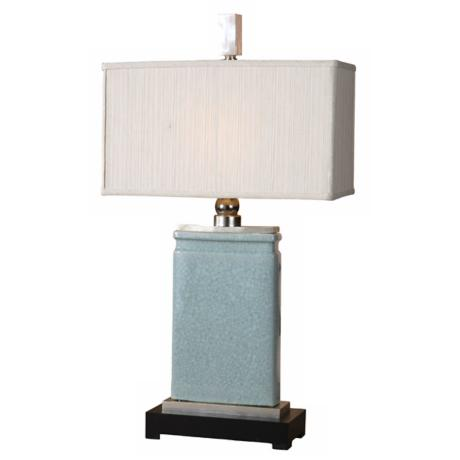 Uttermost Azure Blue Porcelain Table Lamp