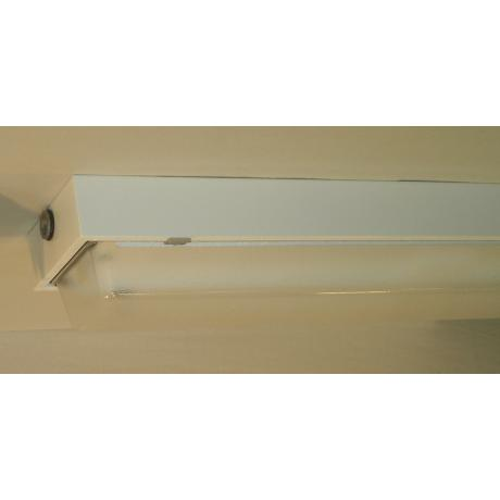 "White Finish 9"" High 99"" Wide Fluorescent Strip"