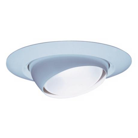 "Lithonia 6"" White Eyeball Recessed Light Trim"