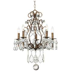 Jolie Five Light Crystal Beaded Chandelier