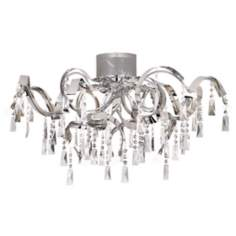 "Possini Euro Chrome Curl Ribbon 34 1/4"" Wide Ceiling Light"