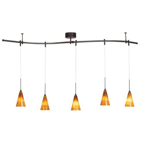 Pro Track® Bronze 175 Watt Five Light Monorail Pendant Kit