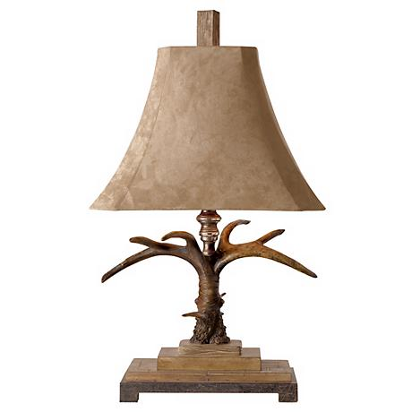 Uttermost Faux Antler Suede Table Lamp