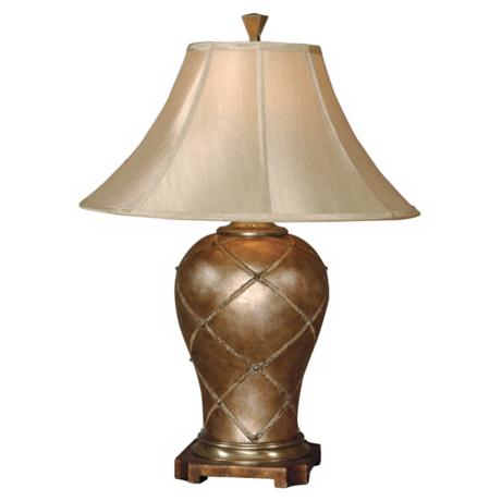 Uttermost Crisscross Eggshell Table Lamp
