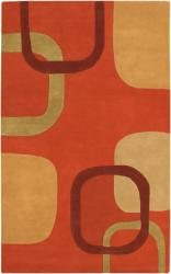 Flowing Pumpking Area Rug
