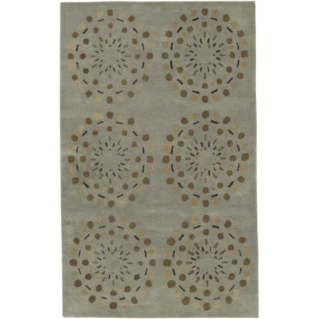 Bombay Mint Green Handmade Area Rug