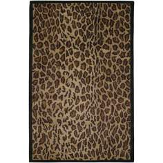 Leopard New Zealand Wool Area Rug