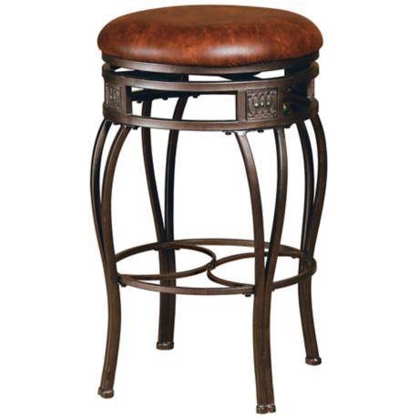 "Hillsdale Montello Backless Swivel 30"" High Bar Stool"