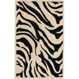 Zebra New Zealand Wool Area Rug