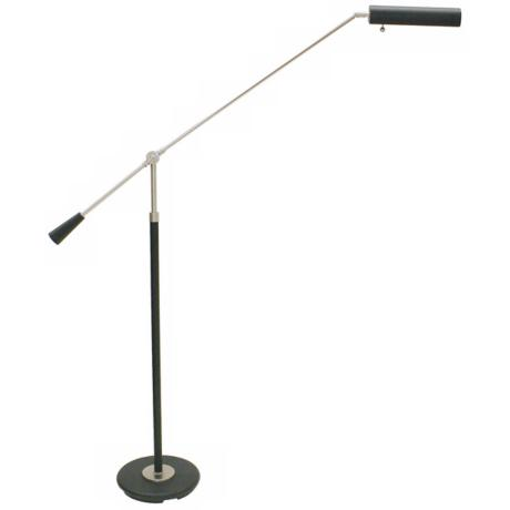 House of Troy Satin Nickel Grand Piano Floor Lamp