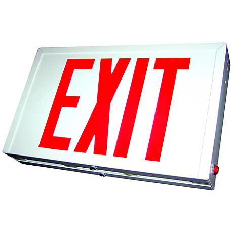 Red LED Double-Face Exit Sign