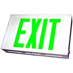 Green LED Double-Face Exit Sign