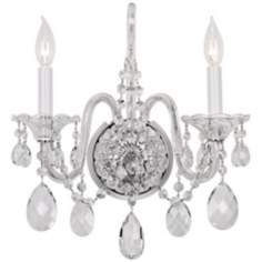 Schonbek Sterling Collection 2-Light Crystal Wall Sconce