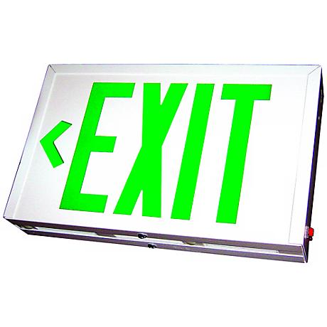 Green LED Double-Face Exit Sign with Battery Backup