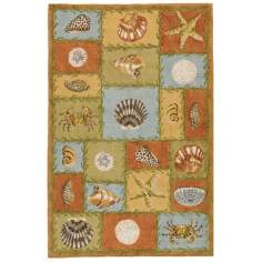 Beach Holiday Jute Area Rug