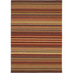 Mystique Burgundy Stripe Area Rug