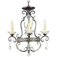 Tivoli Royal Crystal Four Light Mini Chandelier