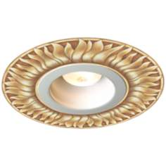 "Juno 6"" White Trim with Florentine Sun Recessed Medallion"