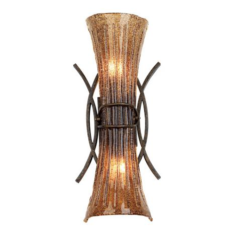 "Fiji Collection Aged Bronze 23 1/2"" High Wall Sconce"
