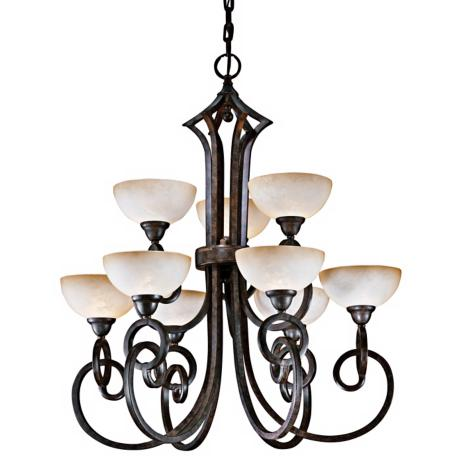Getalo Collection Nine Light Chandelier
