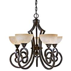 "Getalo Collection 27"" Wide Five Light Chandelier"