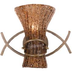 Fiji Collection Aged Gold Finish Sconce