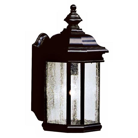 "Kirkwood Black Finish 17"" High Outdoor Wall Light"