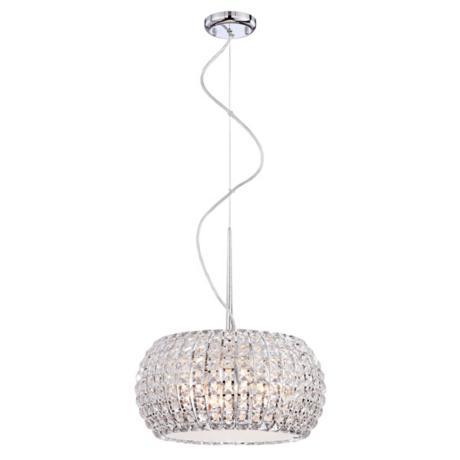 "Contour Crystal 15 3/4"" Wide Pendant Light"