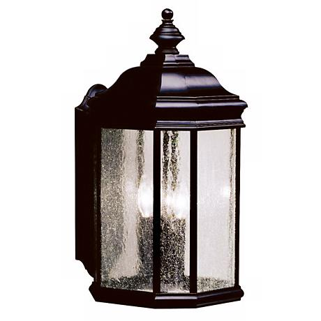"Kirkwood Black Finish 21"" High Outdoor Wall Light"