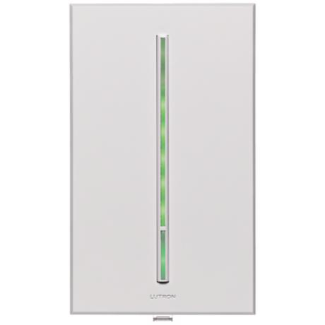 Lutron Vierti Green LED 600 Watt Single Pole White Dimmer