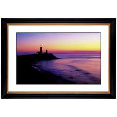 "Lighthouse At Sunset Giclee 41 3/8"" High Wall Art"