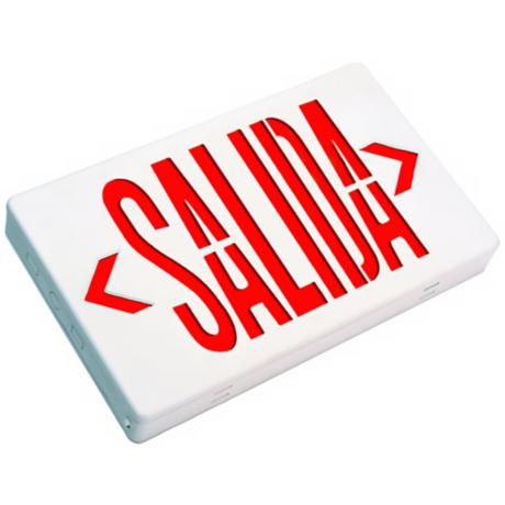 Red Salida Spanish Language Exit Sign Faceplate