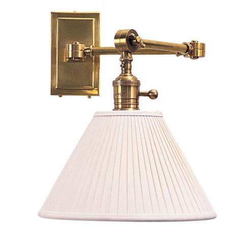 Robert Abbey Ant Bee Brass Plug-In Swing Arm Wall Lamp