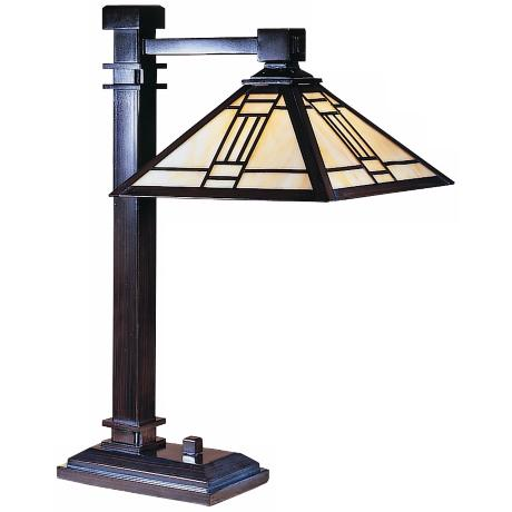 Dale Tiffany Noir Mission Style Table Lamp