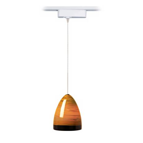 Nebbia Brown Glass Tech Track Pendant for Juno Track Systems