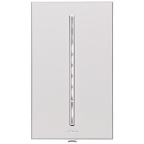 Lutron Vierti White LED 600 Watt Single Pole White Dimmer