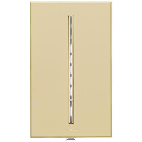 Lutron Vierti White LED 600 Watt Single Pole Beige Dimmer