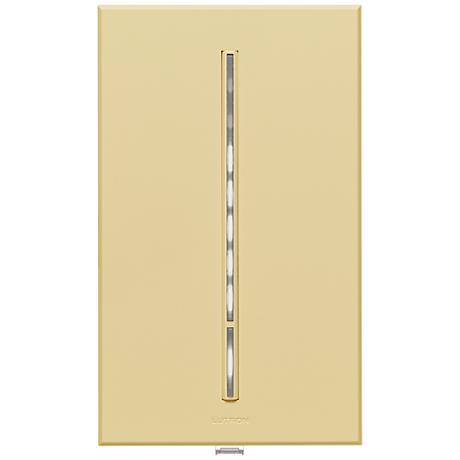Lutron Vierti White LED 600 Watt Single Pole Ivory Dimmer