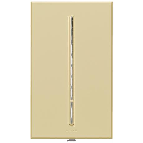 Lutron Vierti White LED 600 Watt Single Pole Almond Dimmer