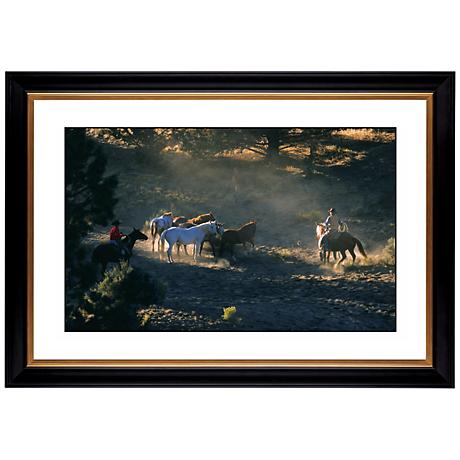 "Mountain Round Up Giclee 41 3/8"" Wide Wall Art"