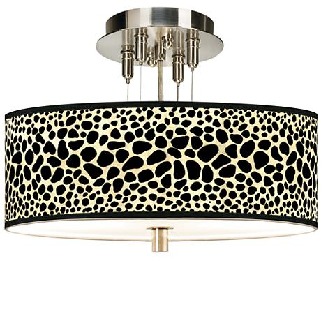 "Leopard Giclee 14"" Wide Ceiling Light"